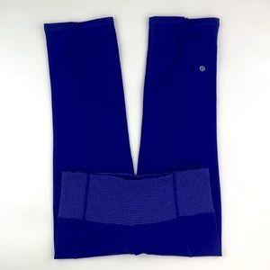 Lululemon 4 Cropped Capri Yoga Leggings Pants Blue